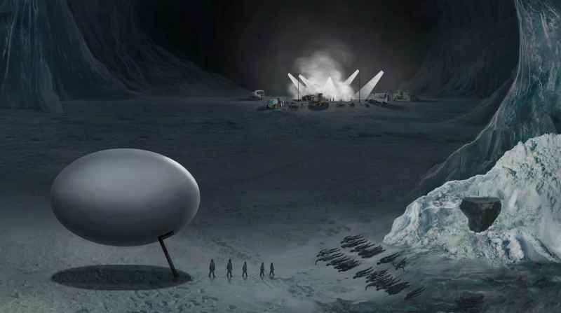 12 Anshar Egg Shaped Craft In Antarctica